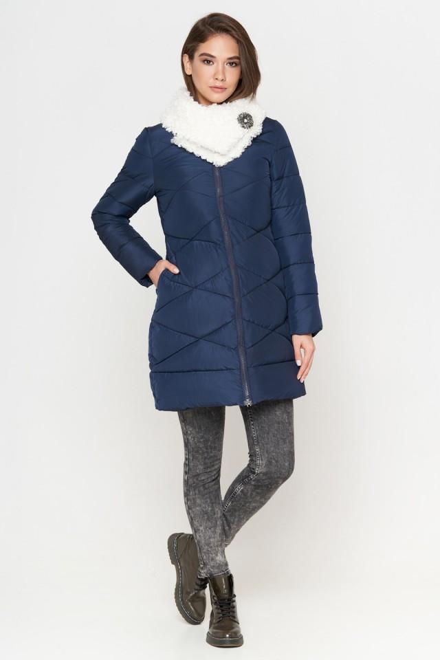 Женская куртка зимняя Braggart Tiger Force качественного пошива  синяя размер 44 46 48 50