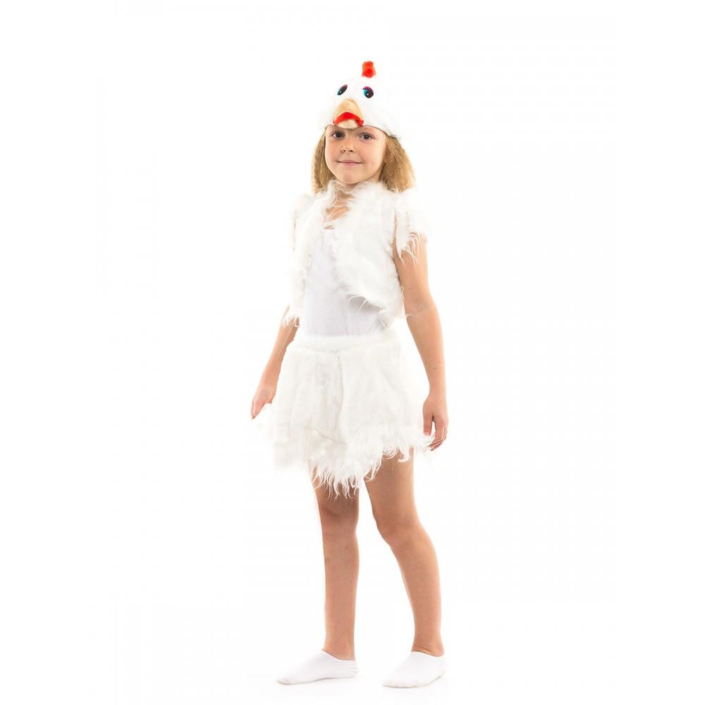 Костюм Курочки белый детей возрастом от 3 до 7 лет