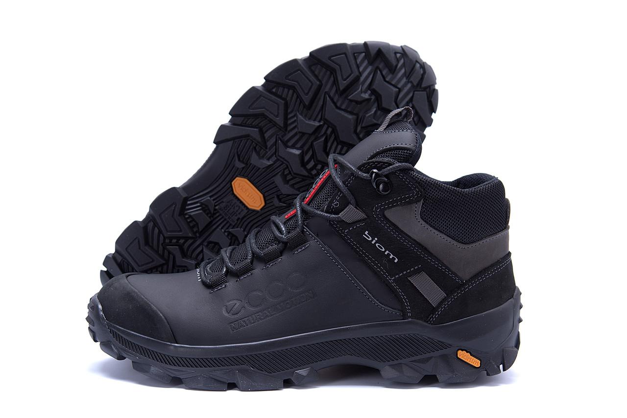 Мужские зимние кожаные ботинки Ecco biom  (реплика) 5