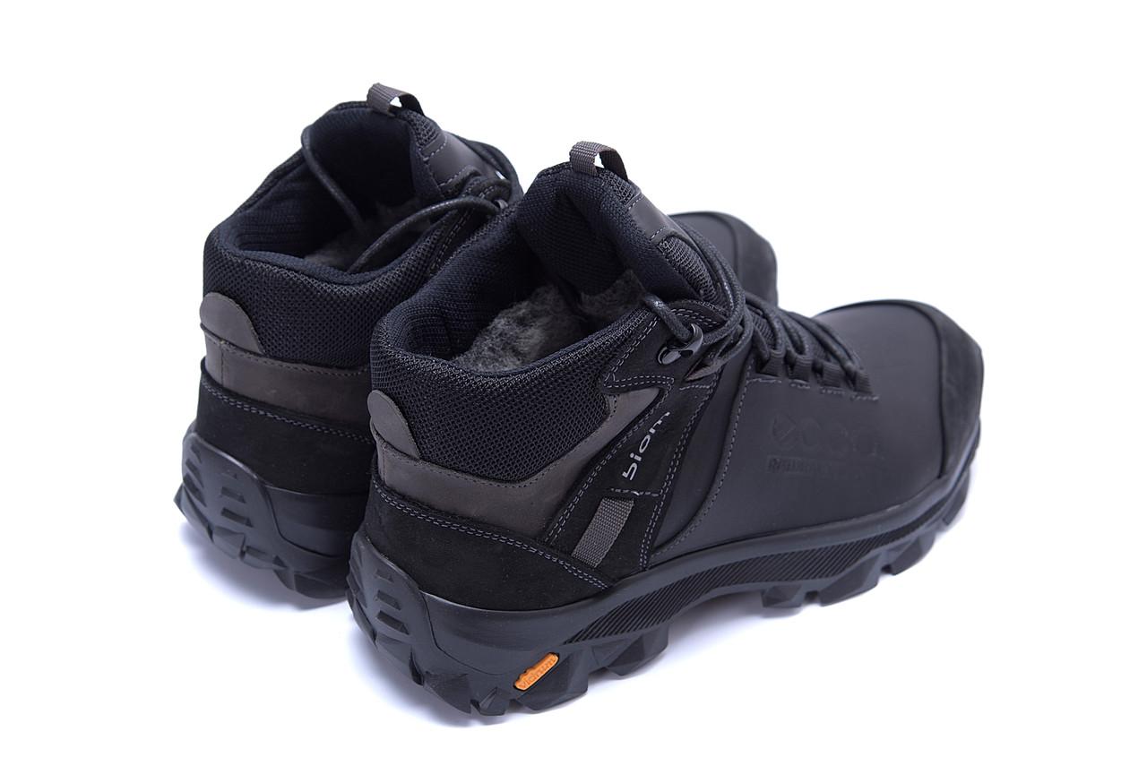 Мужские зимние кожаные ботинки Ecco biom  (реплика) 6