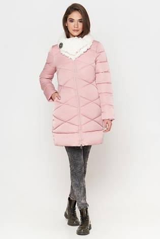 Женская куртка зимняя Braggart Tiger Force качественного пошива  пудра размер 44 46 48, фото 2