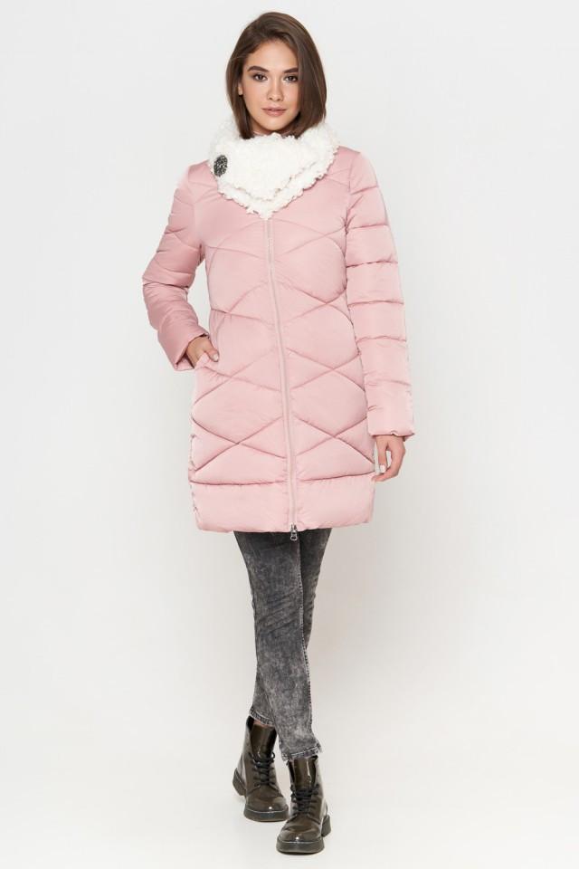 Женская куртка зимняя Braggart Tiger Force качественного пошива  пудра размер 44 46 48