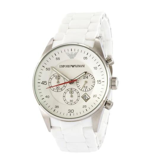 Мужские часы Emporio Armani AR-1400 Black-Silver, элитные часы Эмпорио Армани черный-серебристый реплика ААА