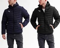 Мужская зимняя стеганая куртка/пуховик в стиле Puma 2 цвета в наличии
