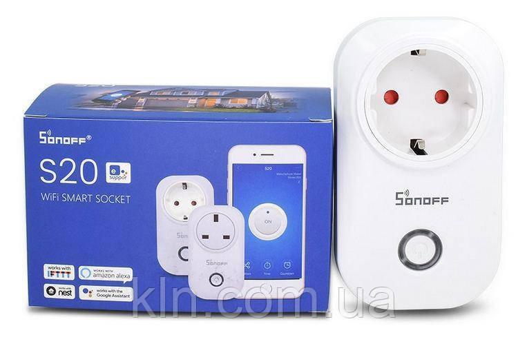 Умная розетка Wi-Fi Sonoff s20 с таймером и расписанием