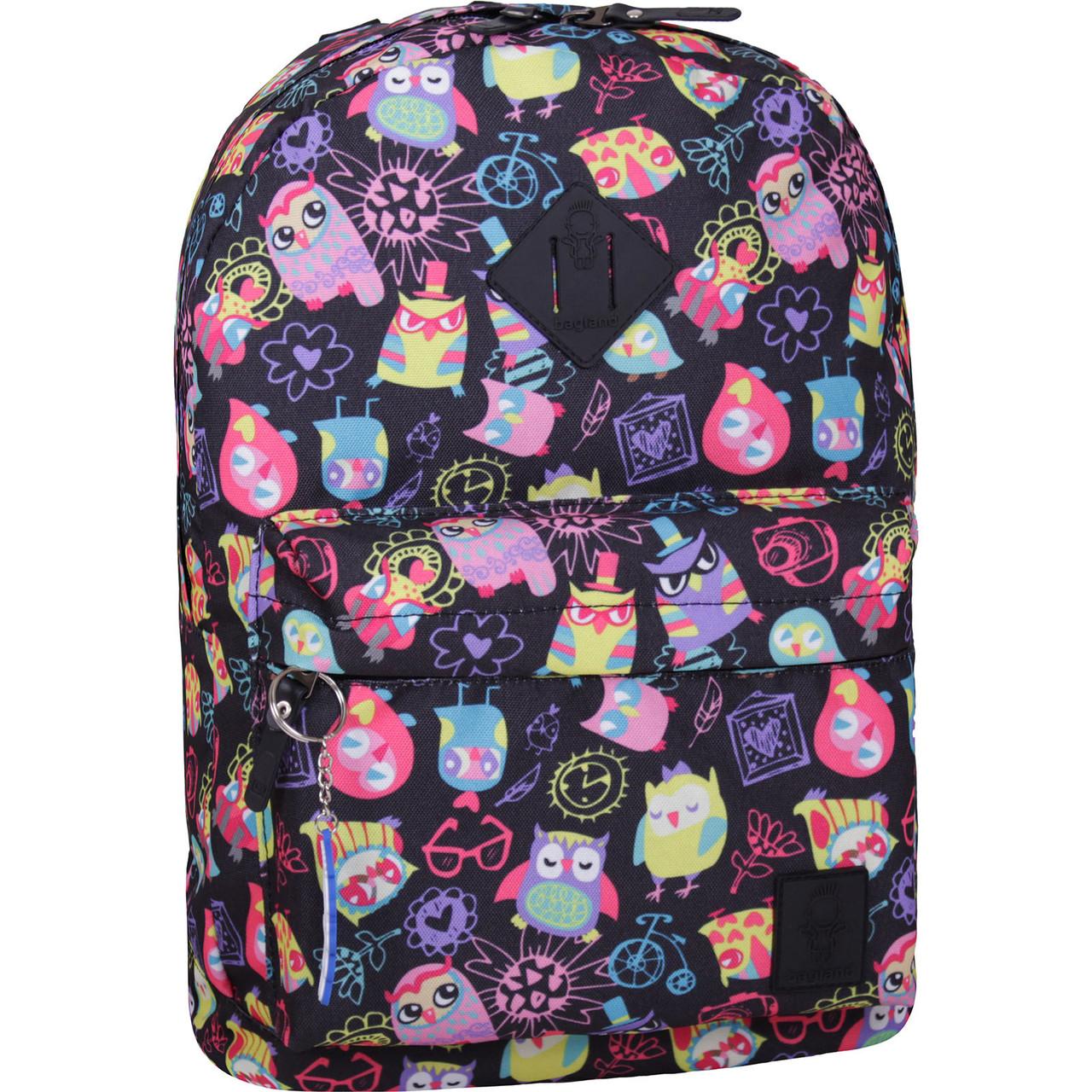 Рюкзак стильный Bagland городской молодежный на 17 л. сублимация совы