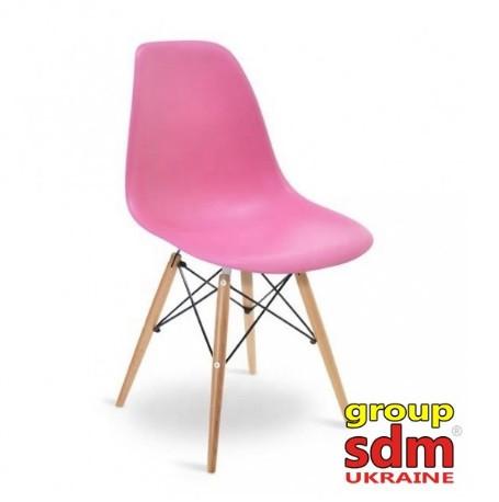 Стул Тауэр Вуд розовый пластик EAMES CHAIR от SDM Group