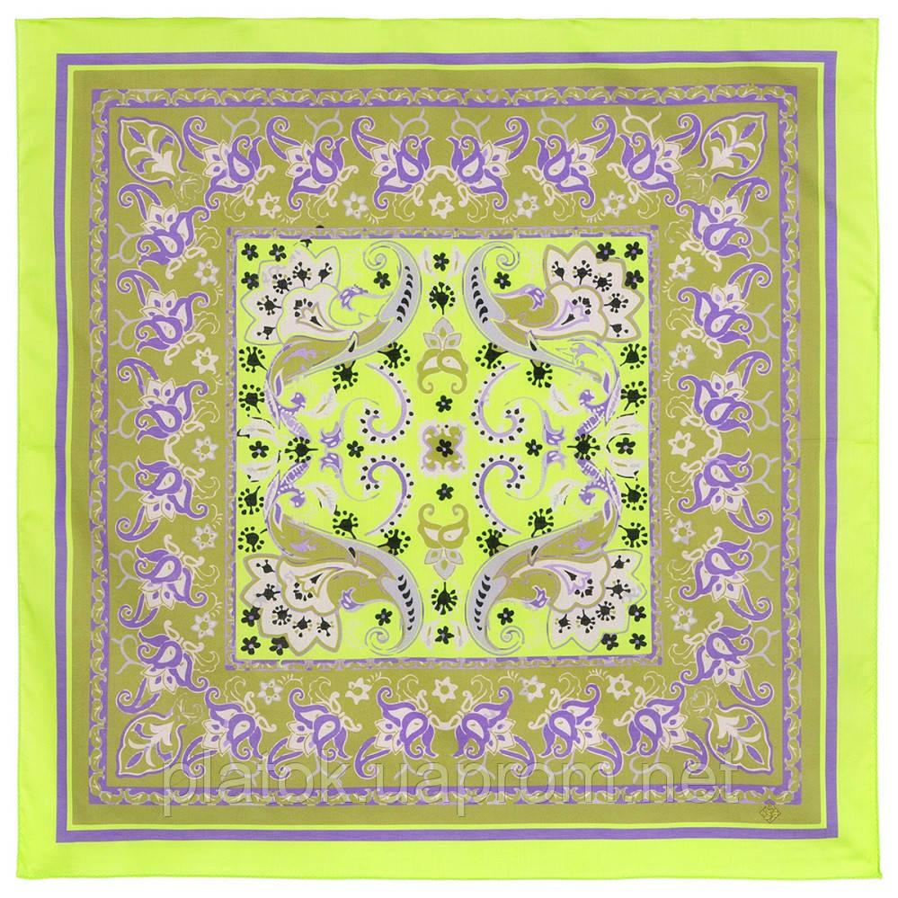 10785-10, павлопосадский платок хлопковый (батистовый) с подрубкой