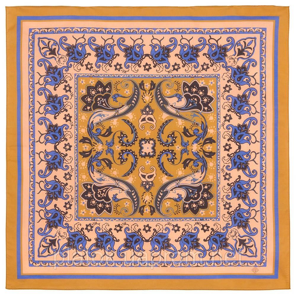 10785-16, павлопосадский платок хлопковый (батистовый) с подрубкой