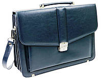 Классический мужской портфель из эко кожи AMO SST11 синий