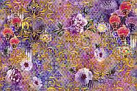 """Фотообои """"Абстракция с цветами"""""""