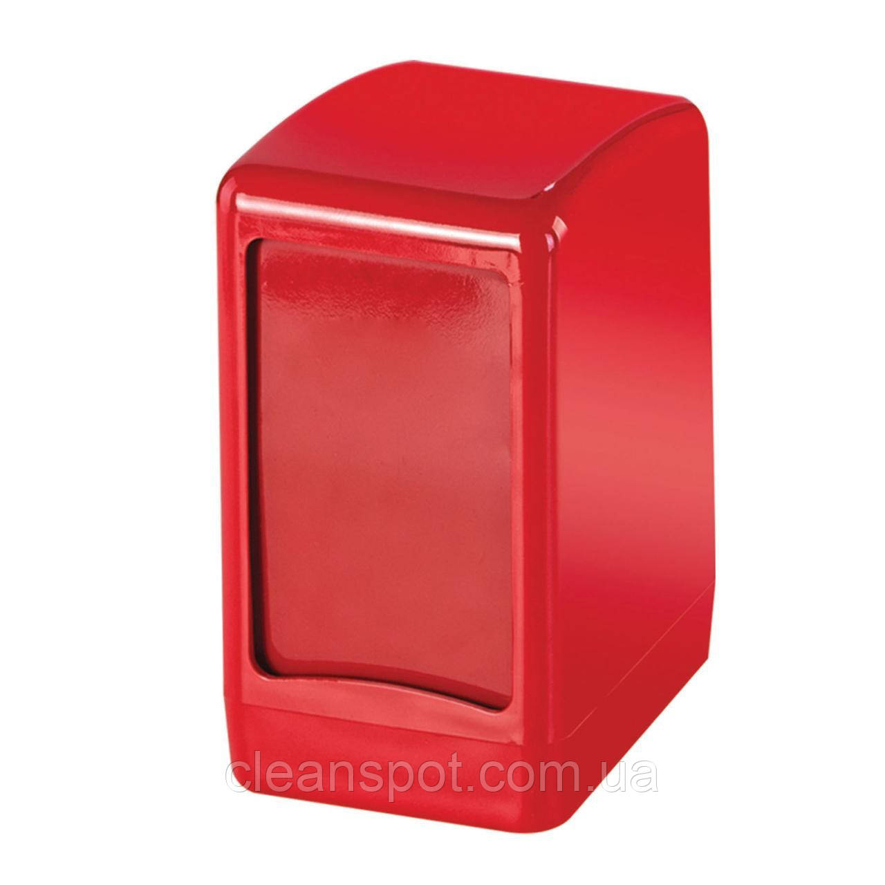 Диспеснер настольных салфеток красный пластик