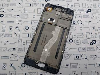 С дефектом. Дисплей Meizu M3 Note L681H модуль черный Сервисный оригинал с разборки (отслоение)