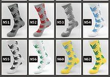 Короткие серые носки ХАФ HUF PLANTLIFE с белым листом, фото 3