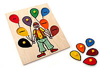 Рамкавкладыши Клоун Lam Toys
