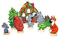 Игра детский домашний театр Теремок, статуэтки животных Lam Toys