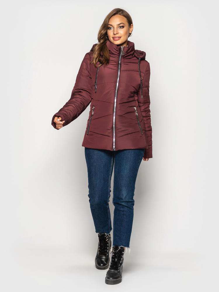 """Демисезонная куртка """"I-563"""" (цвет: черный/темно-синий/темно-серый/бордовый; размер: 50/52/54/56/58/60/62/64)"""