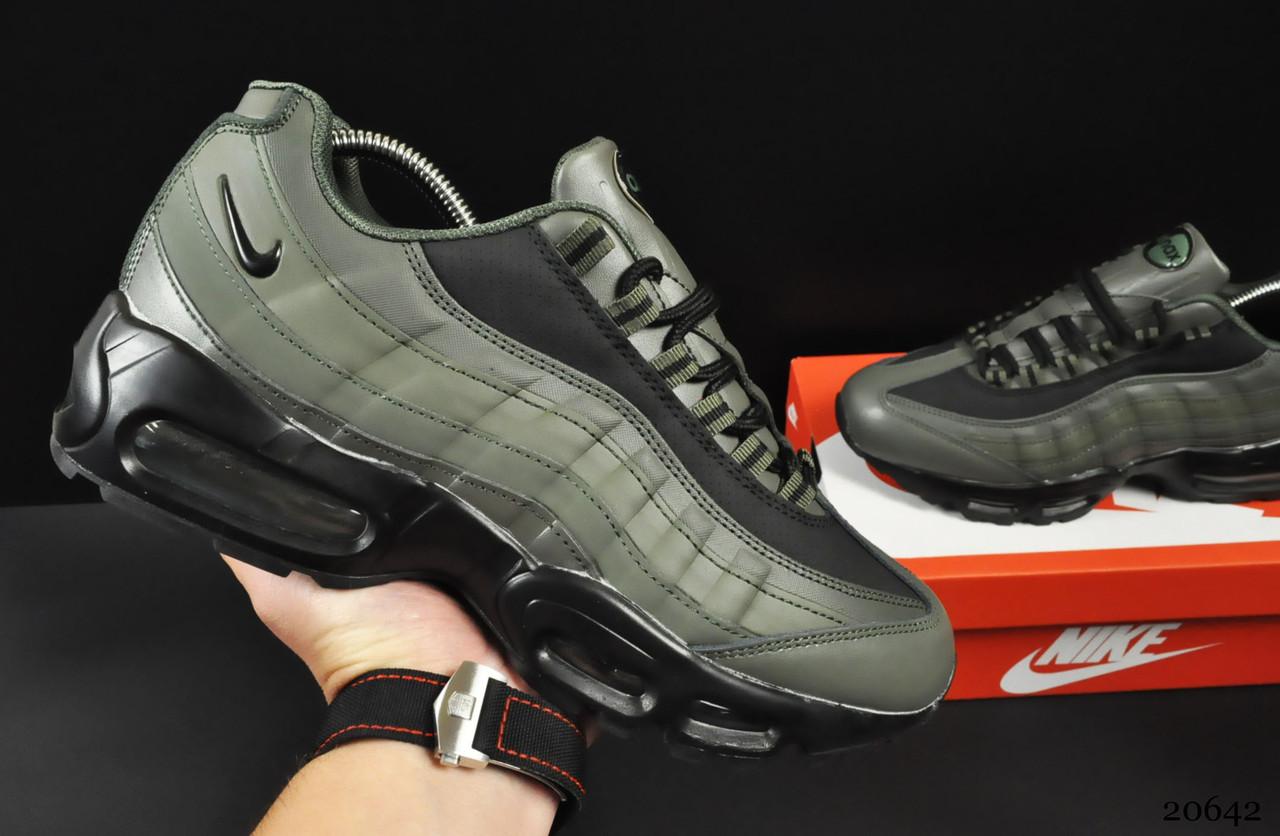 Кроссовки Nike Air Max 95 арт 20642 (мужские, хаки, найк)