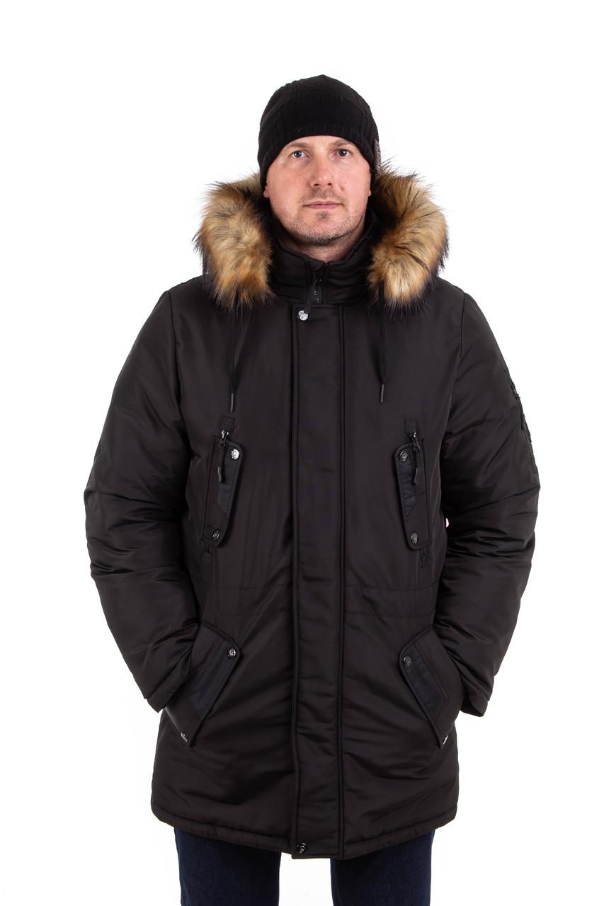 Мужские зимние куртки-парки на меху   44-54 цвет 07