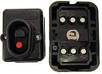 Кнопка пусковая 380В чёрная 10А