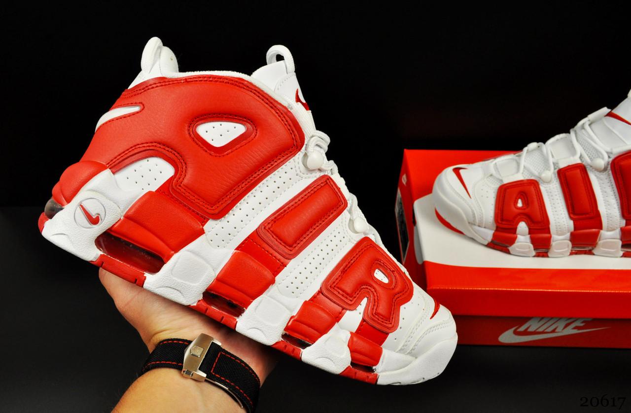 Кроссовки Nike Air More Uptempo арт 20617 (мужские, белые, найк)