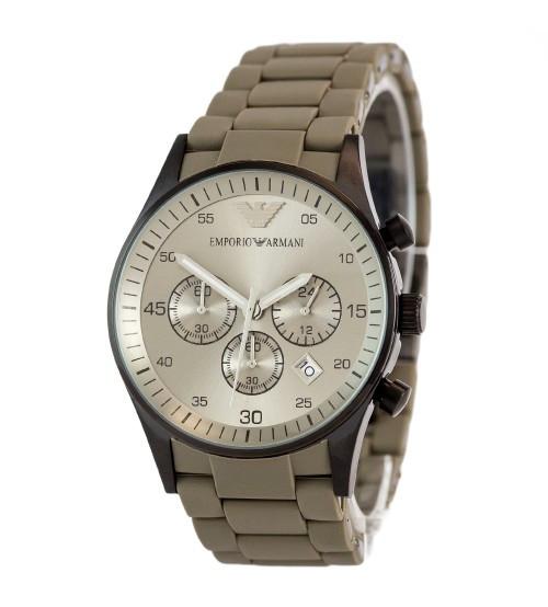 Мужские часы Emporio Armani AR-5905 Gold-Blue Silicone, элитные часы Эмпорио Армани реплика ААА