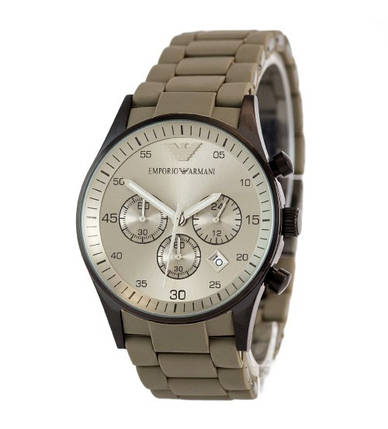 Мужские часы Emporio Armani AR-5905 Gold-Blue Silicone, элитные часы Эмпорио Армани реплика ААА, фото 2