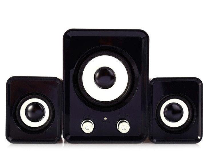Настольные Проводные Компьютерные мини Колонки акустика 2.1 FT-202 с Сабвуфером для Пк, Ноутбука Телефона NEW!