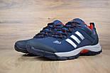 Зимние мужские кроссовки Adidas Climaproof низкие синие с красным 41-46рр. Живое фото. Реплика, фото 3