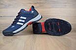 Зимние мужские кроссовки Adidas Climaproof низкие синие с красным 41-46рр. Живое фото. Реплика, фото 5
