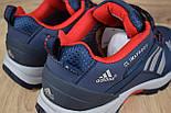 Зимние мужские кроссовки Adidas Climaproof низкие синие с красным 41-46рр. Живое фото. Реплика, фото 6