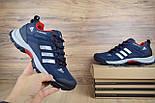 Зимние мужские кроссовки Adidas Climaproof низкие синие с красным 41-46рр. Живое фото. Реплика, фото 7