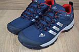 Зимние мужские кроссовки Adidas Climaproof низкие синие с красным 41-46рр. Живое фото. Реплика, фото 8