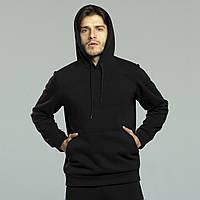 Спортивный мужской базовый худи, кофта теплая, зимняя, с начесом, с капюшоном. Расспродажа