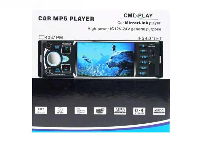 """Автомагнитола Pi GBT 4037 MP5 экран 4"""" TFT"""