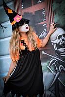 Костюм для девочки на Хэллоуин Ведьмочка черного цвета