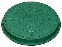Люк пластиковый садовый (зеленый)