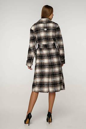 Женское демисезонное пальто в клетку (р. 44-54) арт. 12-26/3, фото 2
