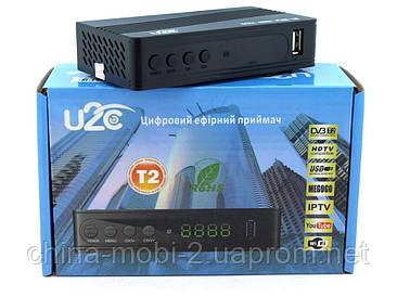 Т2 U2C ефірна цифрова приставка, з дисплеєм роз'ємом під wi-fi і пультом
