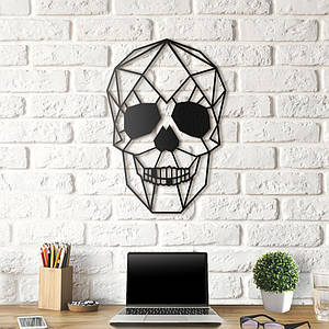 Картина из дерева Decart Skull 52x36 см S1001