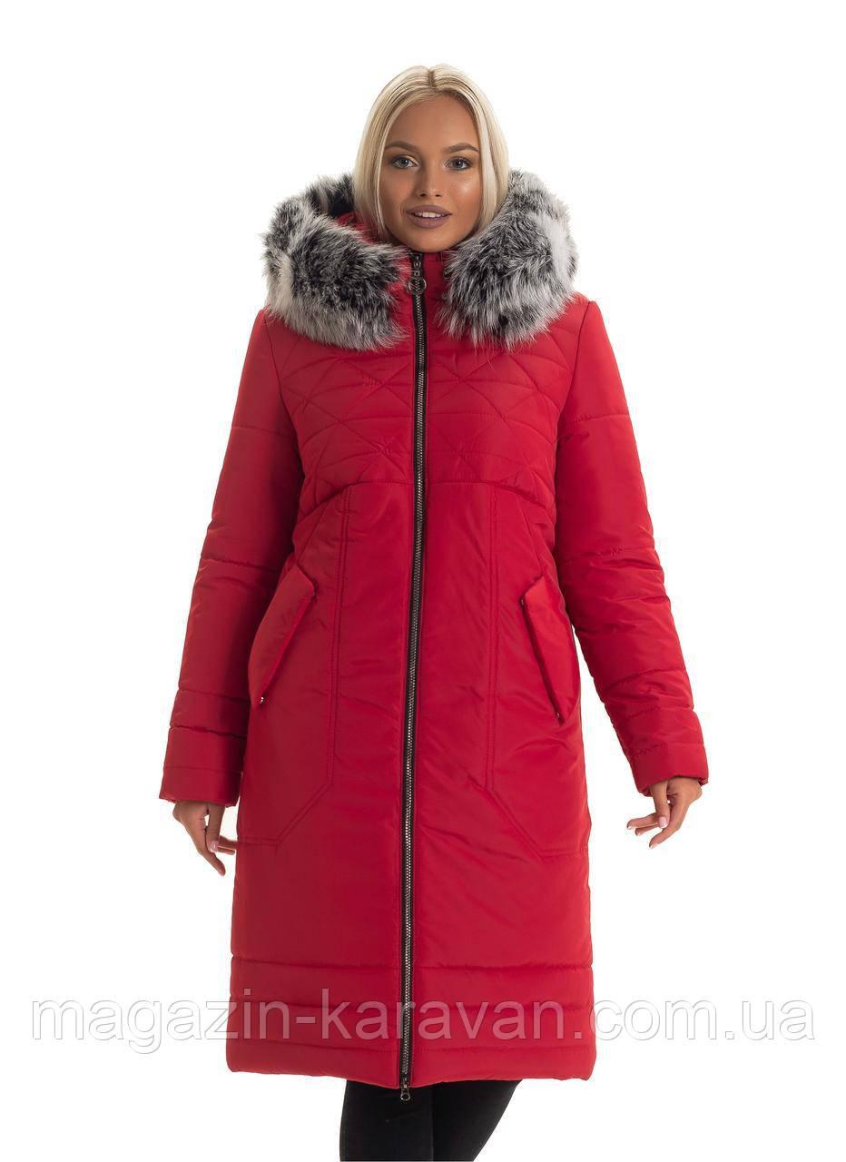 Пуховое теплое пальто (44-56)
