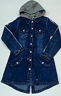 Куртка джинсова на дівчинку .122-128 .см)
