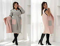Пальто+Жилетка BM-6071. Размеры 48-52;54-58, фото 1