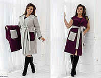 Пальто+Жилетка BM-6082. Размеры 48-52;54-58, фото 1