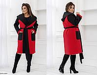 Пальто+Жилетка BM-6089. Размеры 48-52;54-58, фото 1