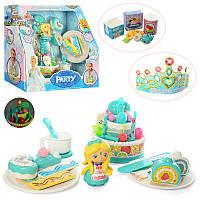 Игровой набор для праздника Торт Frozen музыкальный с посудой и аксессуарами
