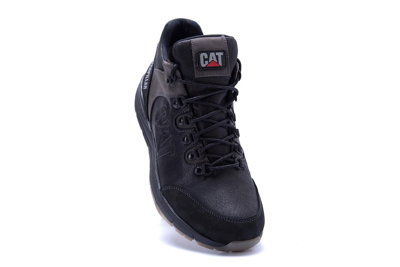 Мужские зимние кожаные ботинки CATERPILLAR Black  (реплика) 2
