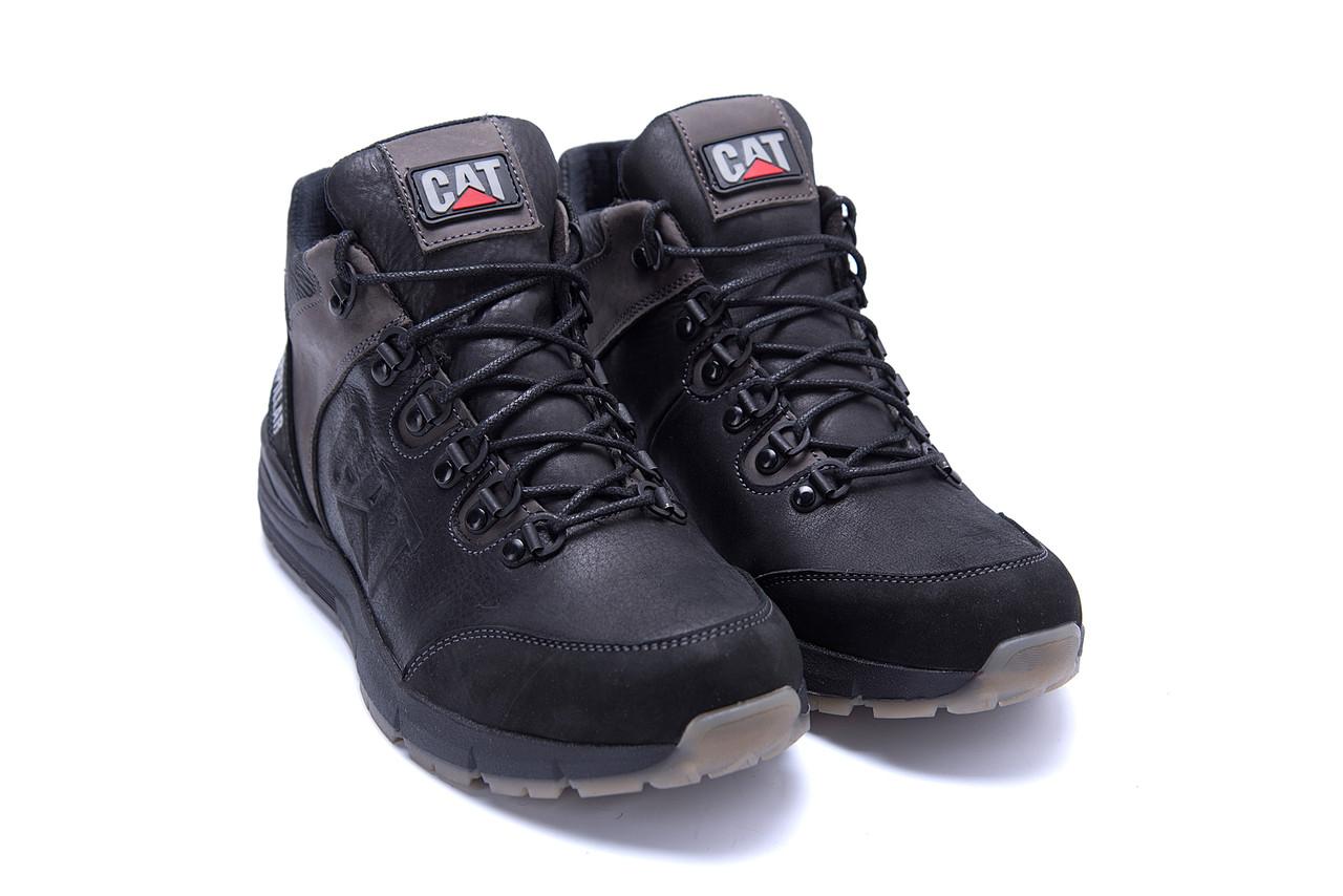 Мужские зимние кожаные ботинки CATERPILLAR Black  (реплика) 4