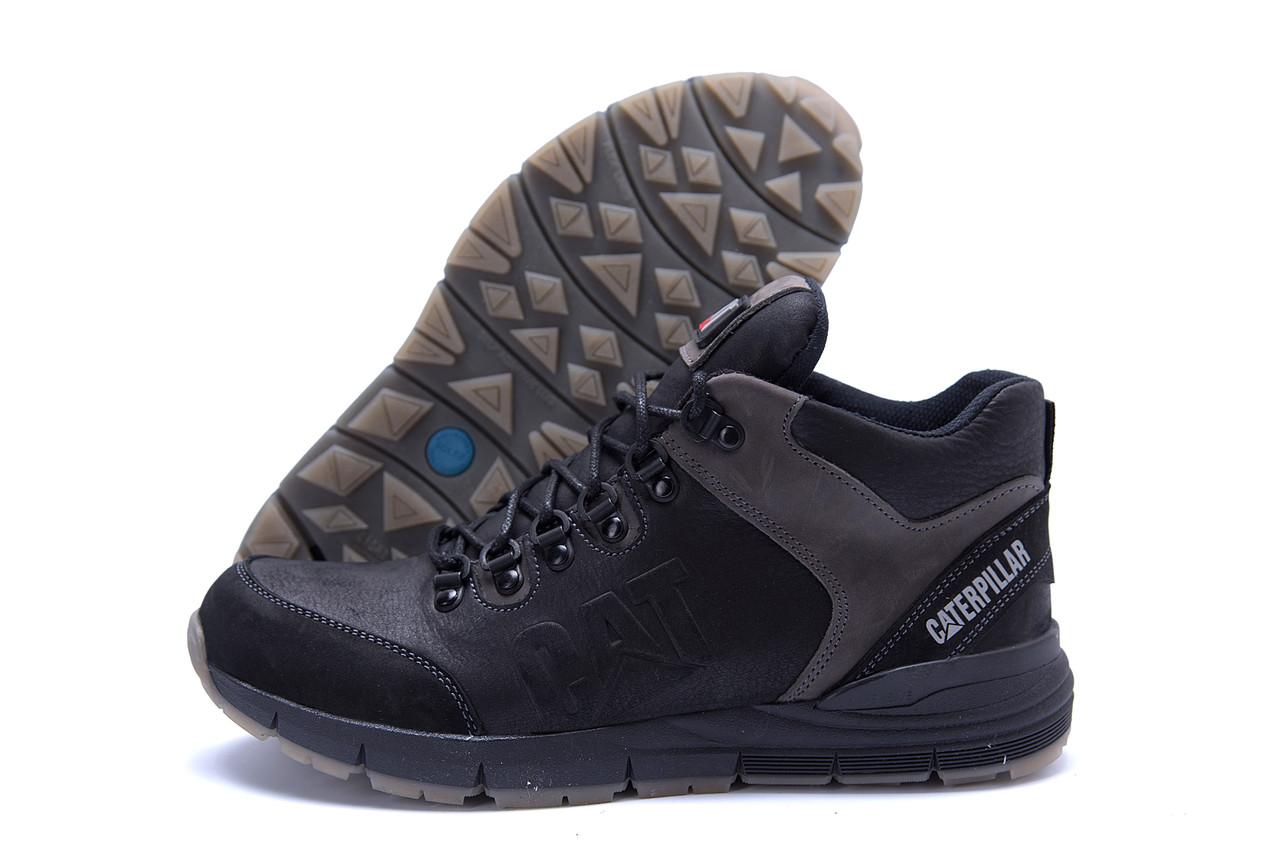 Мужские зимние кожаные ботинки CATERPILLAR Black  (реплика) 3