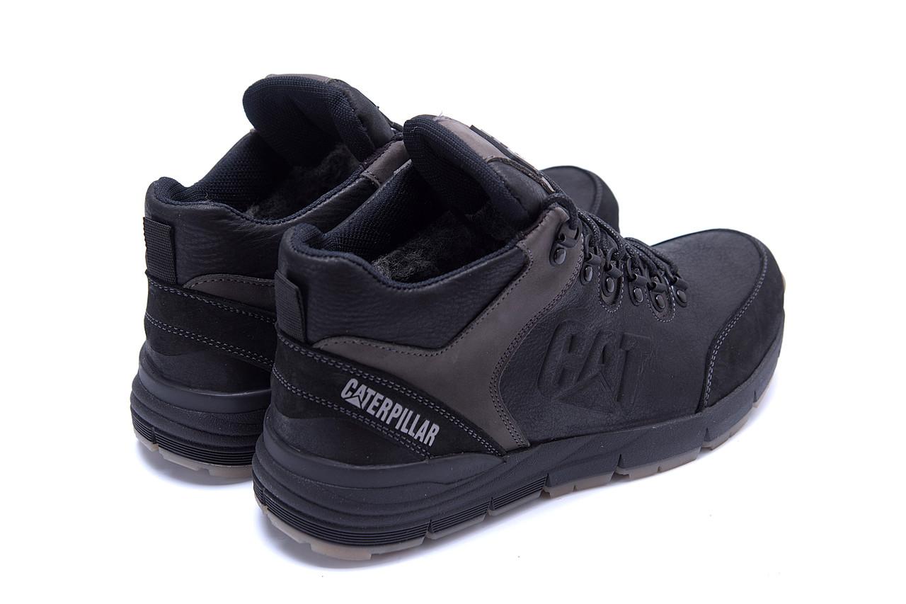 Мужские зимние кожаные ботинки CATERPILLAR Black  (реплика) 6